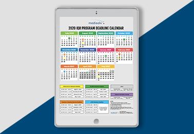 IQR Program Deadlines Calendar 2020